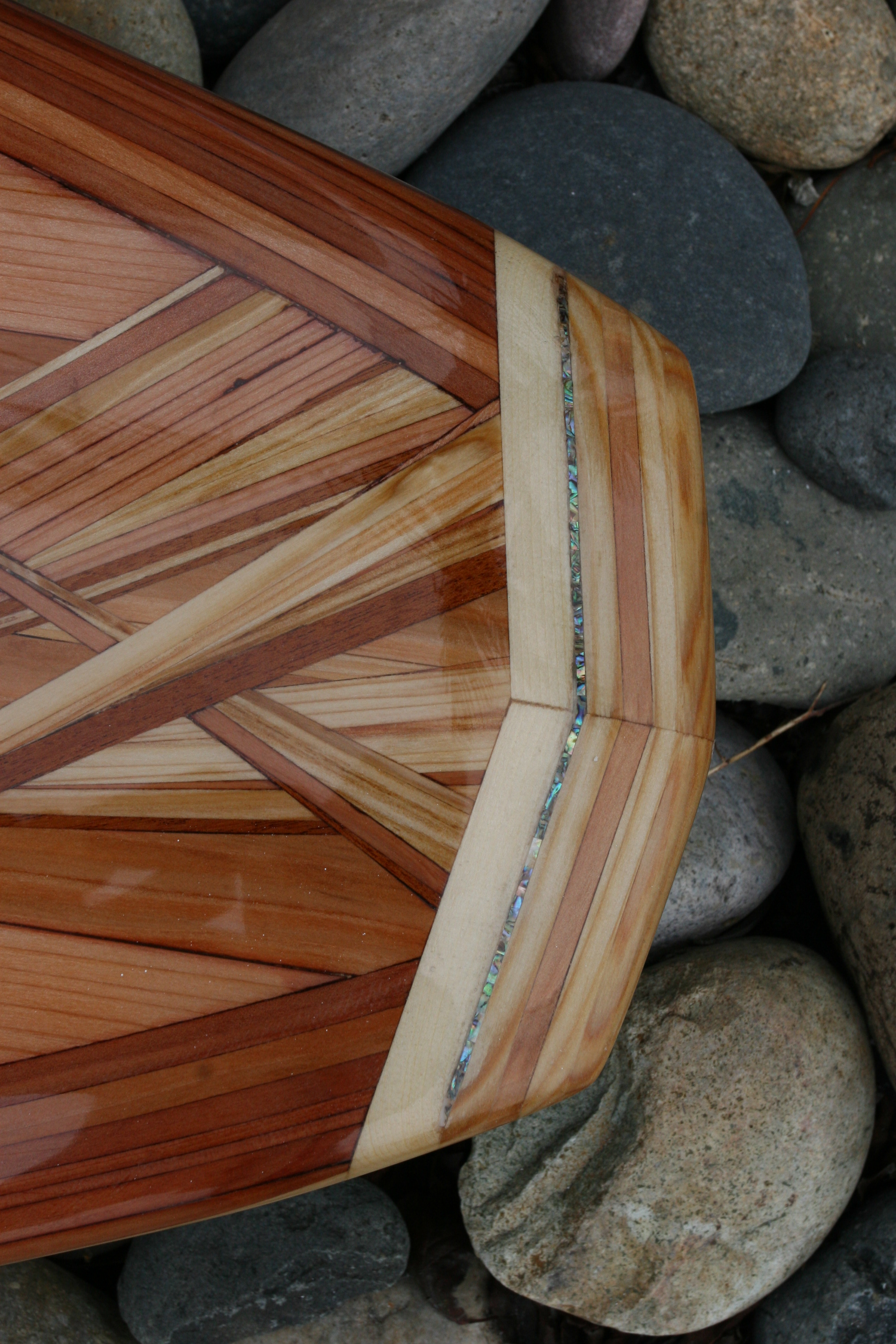 Michael Rumsey - example of Abalone Shell used on tail block of surfboard.JPG