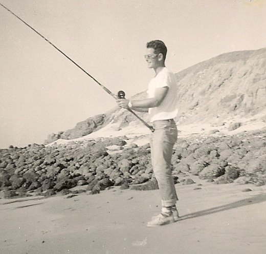 Michael Rumsey's Father Lyle Rumsey Shore Fishing Imperial Beach California.jpg
